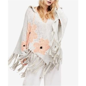 Free People Dream of Daisies Poncho Sweater